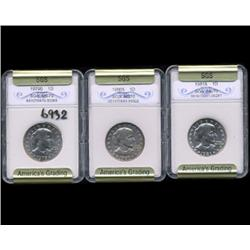 1979S 80S & 81S Anthony Dollar Coin Graded GEM Set of 3 (COI-6932)