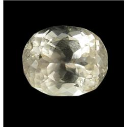 5.84ct Lemon Green Kunzite Afghanistan Oval Cut Appraisal Estimate $1460 (GEM-26166)