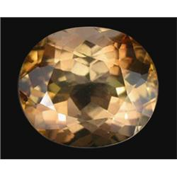 15.57ct Imperial Topaz Oval Unheated Appraisal Estimate $38925 (GEM-19864)