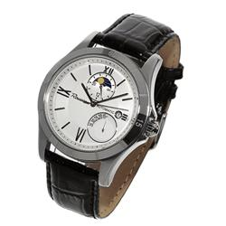 New Rousseau Mens Stainless Power Reserve Sport Watch Ret $2095 (WAT-109)