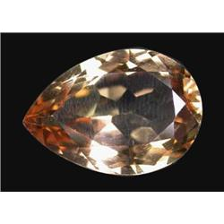 13.78ct Perfect Imperial Topaz Pear Unheated Appraisal Estimate $34450 (GEM-19805)