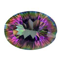 11.30ct Oval Concave Mystic Rainbow Topaz (GEM-26241)