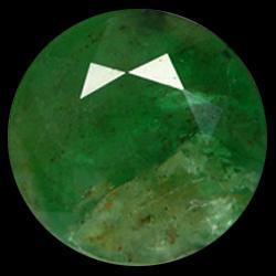 2.55ct Natural Medium Green Zambian Emerald Round Facet (GEM-25831)