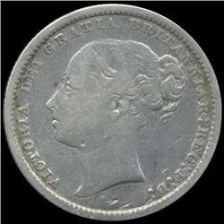 1878 Britain Victoria Shilling High Grade (COI-7041)