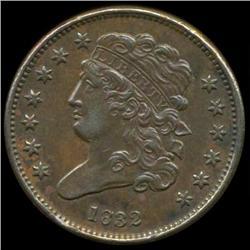 1832 Half Cent Coin High Grade Rare Variety (COI-1841)