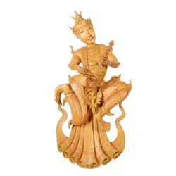 Handcarved Thai Teak Musician Wall Hanging (CLB-100)
