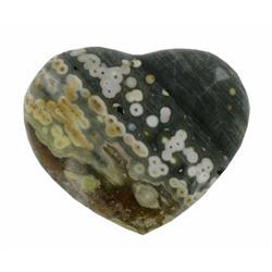 470ct Colorful Gem Grade Sea Jasper Heart (GEM-21148)