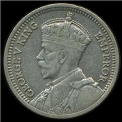 1935 New Zealand 3 Pence George V Hi Grade EXTREMELY RARE (COI-6986)