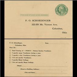1914 US Washington 1c Postcard Nice (STM-0635)