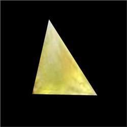1.75ct Trillion Shape Yellow Opal Unheated (GEM-16920C)