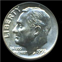 1959D Roosevelt Dime Graded PCGS MS66 FB (COI-6394)