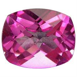 4.98ct Shimmering Mystic Pure Pink Cushion Topaz Appraisal Estimate $9960 (GEM-24273D)