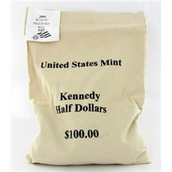 2004P/D JFK Half $100 Mint Unopened Bag 200 Pieces Brilliant Uncirculated (COI-6494)
