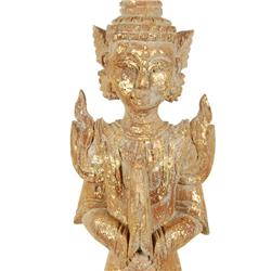 Temple Guard Carved of Old Teak (CLB-002)