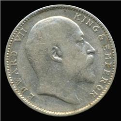 1903B India Silver Rupee High Grade Scarce Variety (COI-6628)