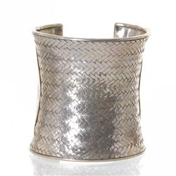 Handmade Hill Tribe Silver Cuff Bracelet (CLB-223)