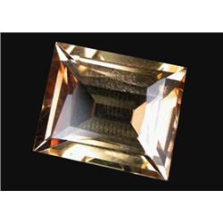 8.99ct Dazzling Imperial Topaz Baguette Unheated Appraisal Estimate $22475 (GEM-19802)
