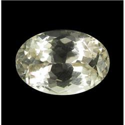 5.68ct Lemon Green Kunzite Afghanistan Oval Cut Appraisal Estimate $1420 (GEM-26159)
