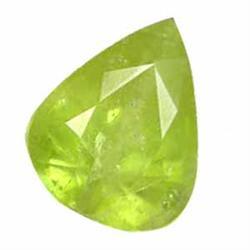2.75ct Twinkling Natural Pear Afghan Green Sphene (GEM-24827)