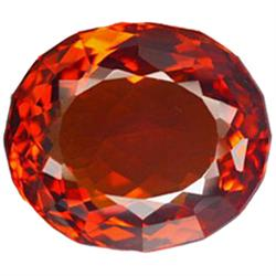 50.64ct Scintillating Orange Oval Cut Citrine (GEM-23125)