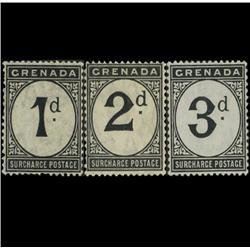 1892 Grenada Postage Due Set Mint RARE (STM-0583)