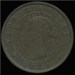 1871 Canada Prince Edward Island Cent Hi Grade (COI-6946)