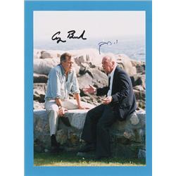George Bush and Yitzhak Rabin