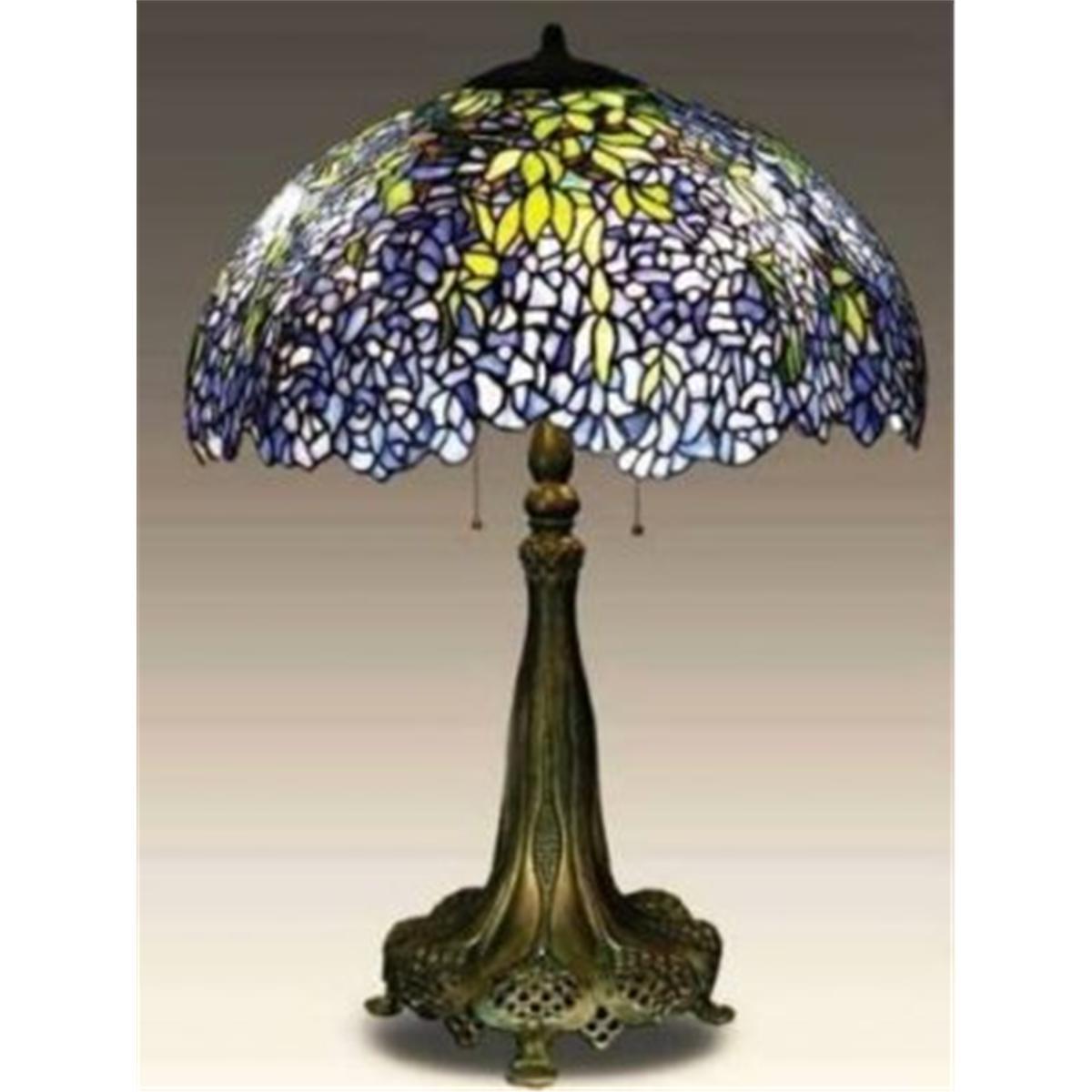 Tiffany Table Lamp W Wisteria Shade