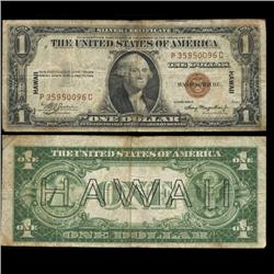 1935A Hawaii $1 Silver Certificate Circulated Scarce WW2 (CUR-06001)