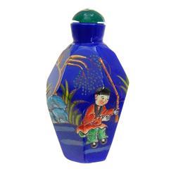 Heavy Peking Glass Chinese Snuff Bottle Set (ANT-669)