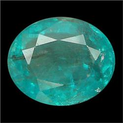 1.34ct Oval Cut Blue Green Natural Apatite Neon Copper Bearing (GEM-24046)