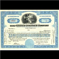 1950s Gulf States Utilities Stock Certificate RARE Angel Style (COI-3330)