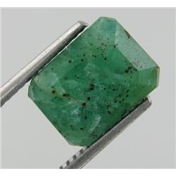 3.53ct Natural Mint Green Zambian Emerald Octagon Facet  (GEM-19272)