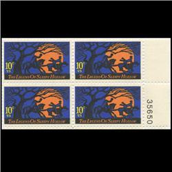 1974 US Sleepy Hollow 10c Plate Block MINT (STM-0646)