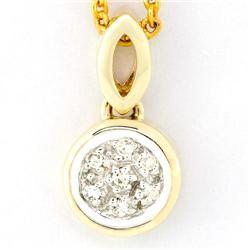 0.07Ct Genuine Natural Diamond Yellow 9K Gold Pendant (JEW-9122X)