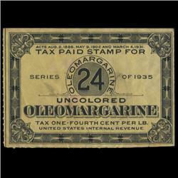 1935 US Oloeomargarine 24c Tax Stamp NICE (STM-0622)