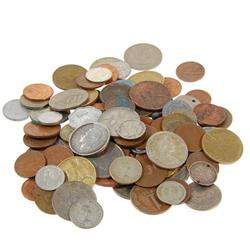 Lot of 100 Mixed Foreign Coins  (COI-438A)