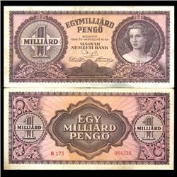 1946 Hungary 1B Pengo Note Hi Grade Scarce (CUR-06123)