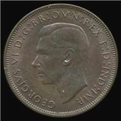 1948 Britain George VI Penny GEM MS65+ Great Toning (COI-7090)
