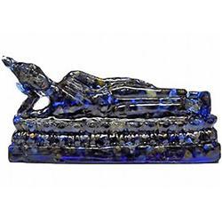 400.00ct. Nice Blue Sapphire Reclining Buddha Statue (GEM-9738)