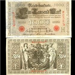 1910 Germany 1000 Mark Note Hi Grade (COI-3903)