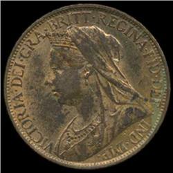 1896 Britain Victoria Farthing BU MS63+ (COI-7060)
