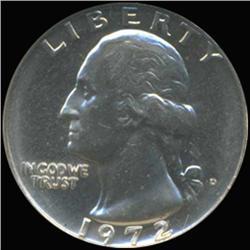 1972D Washington 25c Quarter Coin Graded GEM (COI-6868)