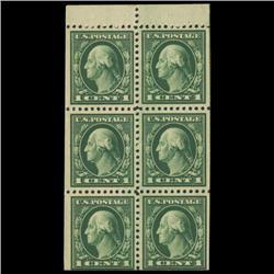 1917 US 1c Postage Stamp Booklet Pane Mint (STM-0610)