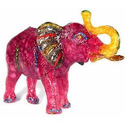 500ct. Red Ruby & Topaz Elephant Figure Statue (GEM-4901)