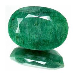 14+ct. Excellent Oval Cut S. American Emerald (GMR-0013A)