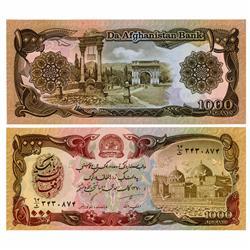 1991 Afghanastan 1000 Afghanis Crisp Unc Note (CUR-05622)