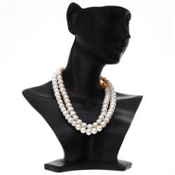 White Saltwater Barock Pearl Necklace  (JEW-362)