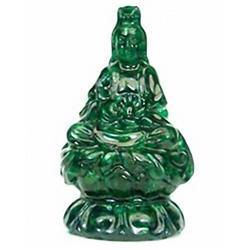 500ct Kwan Yin Statue Green Sapphire (GEM-17519)