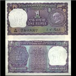 1969 India 1 Rupee Ghandi Anniv. Crisp Uncirculated (CUR-06193)